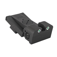 """Kensight Target 1911 Tritium Night Sights .120"""" Deep Notch with Rounded Blade - Fits Bomar ® BMCS Sight Dovetail Cut"""