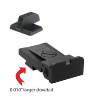 "Kensight® Serrated Blade/Rounded Corners, 0.010"" Oversized Dovetail for Bo-Mar BMCS Cut - .200"" Tall FLAT BASE Front Sight"