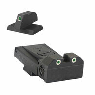 "Fully adjustable tritium dot rear sight fits Bo-Mar BMCS Cut, .120"" deep notch, beveled blade w/serrations - .210"" Tall FLAT BASE Front Sight"