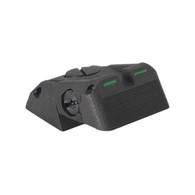 DAS™ - Defensive Adjustable Sight, Fully adjustable bar-dot-bar tritium rear sight fits Novak ® LoMount cut, w/serrations