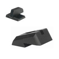"DFS™ - Defensive Fixed Sight, Fixed rear sight fits Novak ® LoMount cut, w/serrations - Includes .160"" Tall FLAT BASE Front Sight"