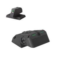 "DAS™ - Defensive Adjustable Sight, Fully adjustable bar-dot-bar tritium rear sight fits Novak ® LoMount cut, w/serrations - .230"" Tall FLAT BASE Front Sight"