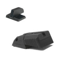 "DAS ® - Defensive Adjustable Sight, Adjustable rear sight fits Novak ® LoMount cut, w/serrations (Elevation Only) - .200"" Tall FLAT BASE Front Sight"