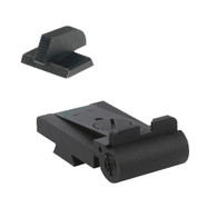 "Fully adjustable rear sight fits Caspian Rollo cut, rounded blade w/out serrations - .200"" Tall FLAT BASE Front Sight (960-008)"