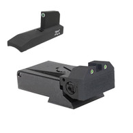 Fully adjustable tritium dot rear sight for Ruger® MKII and MKIII, beveled blade w/serrations Tritium undercut patridge front sight (960-995)