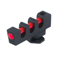 "0.180"" serrated fiber optic front sight for Glock®, red fiber optic insert"