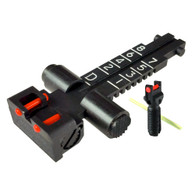 Kensight® AK-47 Adjustable Tangent Rear Sight, Green Fiber Optic Rods (2 Dot), Graduated from 100M to 800M