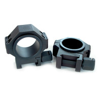 """USTS® 30mm 4140 Steel Rings, Standard Width w/1"""" Inserts 0.940"""" LOW PROFILE -SMOOTH"""