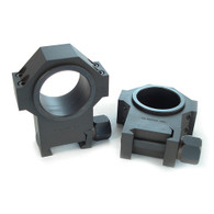 """USTS® 30mm 4140 Steel Rings, Standard Width w/1"""" Inserts 1.270"""" HIGH PROFILE - SMOOTH"""