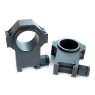 """USTS® 30mm 4140 Steel Rings, Standard Width w/1"""" Inserts 1.500"""" EX-HIGH PROFILE -SMOOTH"""