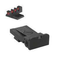Kensight ® 1911 Bomar Rounded Blade Sight Set W/ 0.200'' Tall Fiber Optic Flat Front Sight