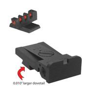 Kensight ® 1911 Bomar  Square Blade Sight Set W/ 0.200'' Tall Fiber Optic Front Sight