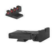 Kimber ® Adjustable Sight Set Rounded Blade W/ 0.200'' Tall Fiber Optic Flat Front Sight