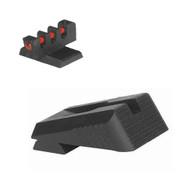 Kimber ® Sight Set Serrated Blade W/ 0.160'' Tall Fiber Optic Flat Front Sight