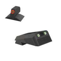 Kimber ® Sight Set Serrated Blade W/ 0.160'' Tall Fiber Optic Flat Front