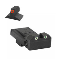 Kensight ®1911 LPA Adjustable Beveled Blade Sight Set W/ 0.200'' Tall Lumi Orange Tritium Contoured Front Sight