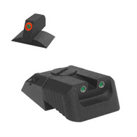 Kensight Novak ® Adjustable Rear Tritium Night Sight, Recessed Blade W/ 0.200'' Tall Lumi Orange Tritium Contoured Front Sight