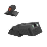 Kensight Novak ® Adjustable Rear Tritium Sight, Serrated Blade W/ 0.200'' Tall Lumi Orange Tritium Contoured Front Sight