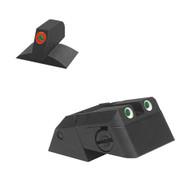 Kensight Novak ® Adjustable Rear Tritium Night Sight, Serrated Blade W/ 0.230'' Tall Lumi Orange Tritium Contoured Front Sight