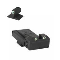 Kensight Springfield ® Adjustable Tritium Dot Rear W/ 0.200'' Tall Tritium CONTOURED base Front