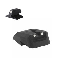 Kensight Springfield ® White Dot Rear, Recessed Blade W/ 0.200'' Tall White Dot CONTOURED base front
