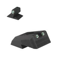Kensight Springfield ® Tritium Rear, Serrated Blade W/ 0.200'' Tall Tritium CONTOURED base Front Sight