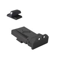 Kensight Ruger ® SR1911 Adjustable White Dot Sight, Beveled Blade W/ 0.200'' Tall White Dot FLAT base front