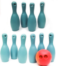 "Lil's Bowling Buddy Game - 10 Pin Set + 4"" Feel Trainer Ball"