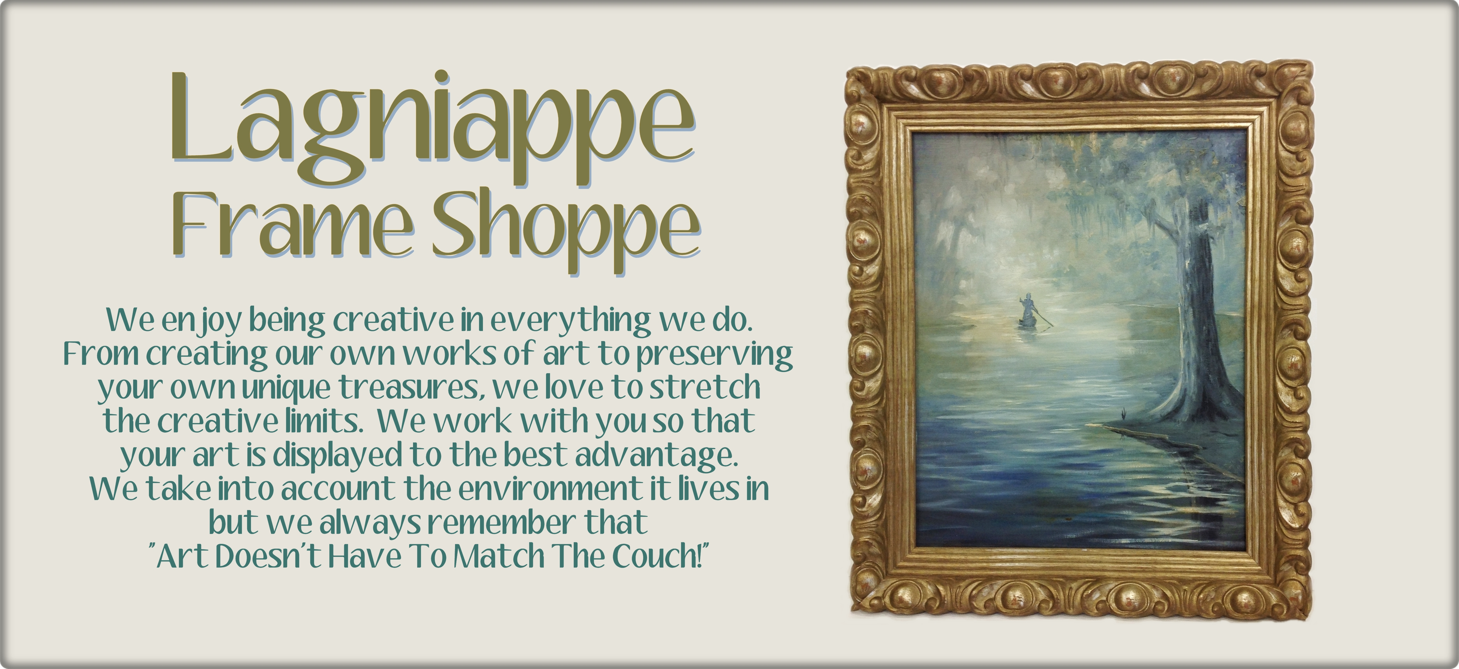 Contact Us - Lagniappe Frame Shoppe and Fleur deSign Studio