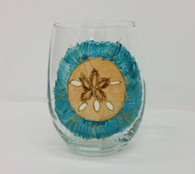 Sand dollar Stemless Wine Glass