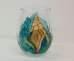 Seashell Stemless Wine Glass