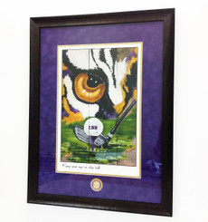 Artist's Proof LSU Golf Print Framed