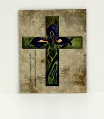 Purple Iris Cross Board