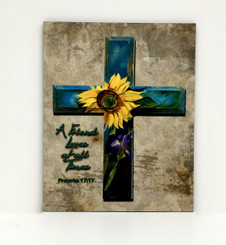 Sunflower and Iris Cross Board