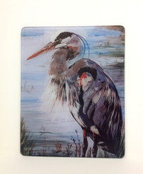 Blue Heron Square Cutting Board