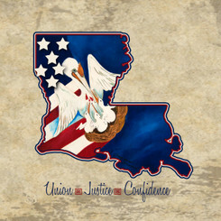AMERICAN LOUISIANA PROUD PRINT