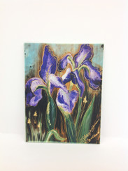 Iris Design on Ceramic Tile