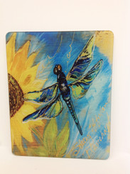 Dragonfly and Sunflower Cutting Board