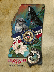 MISSISSIPPI BICENTENNIAL  GICLEE PRINT SIGNED BY STACEY UFFMAN BLANCHARD