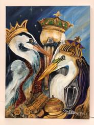 Pierre Pelican 3 Wisemen print