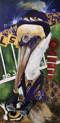 Pierre Pelican the Lsu Tigers Spectator print 8x14