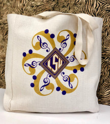 TIGERBAND LINEN TOTE BAG