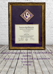 BAND GRADUATION DIPLOMA FRAME