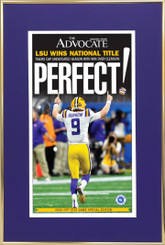 Advocate PERFECT! Poster framed