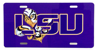 Tangled Tigre LSU License Plate