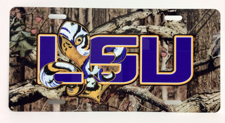 Tangled Tigre' Camo LSU License Plate