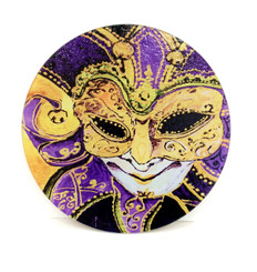 Crescent City Jester Round Cutting Board