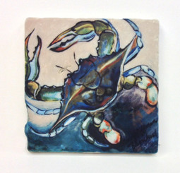 Blue Crab Coaster Set