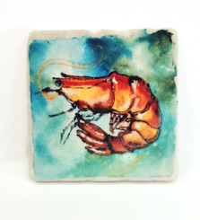 Shrimp Sparkle Collection Marble Coaster Set