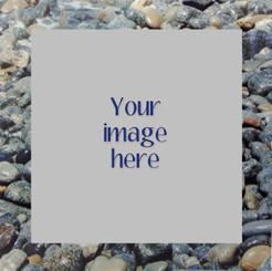 Custom Image on River Rocks Metal  8x8/10x10